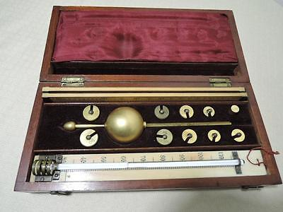 Antique Sikes Hydrometer with Mahogany Box