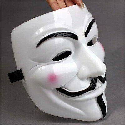 V For Vendetta Mask Guy Fawkes Anonymous Halloween Masks Fancy Cosplay AU STOCK