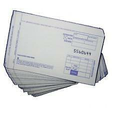 SHORT 2-PART Credit Card Manual Imprinter CREDIT Slip Draft Forms (100 per/pack)