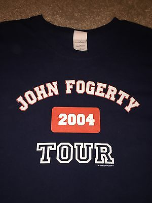 John Fogerty Credence Clearwater Revival  Concert Tour Shirt 2004 Green River