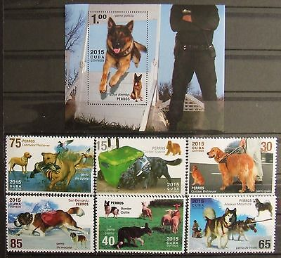Dogs 2015, 6 stamps and 1 S/S, MNH, E 3468