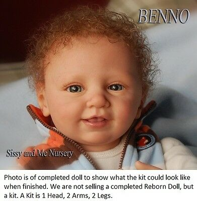 Reborn Doll Kit, Benno By Linde Scherer, Real Feel Vinyl Kit