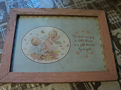 "Nursery picture ""To find new joy in little things is a gift blessed by angels"""