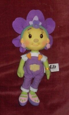 """FIFI AND THE FLOWER TOTS - RARE TALKING Violet 8"""" PLUSH SOFT TOY DOLL W/ SOUNDS"""