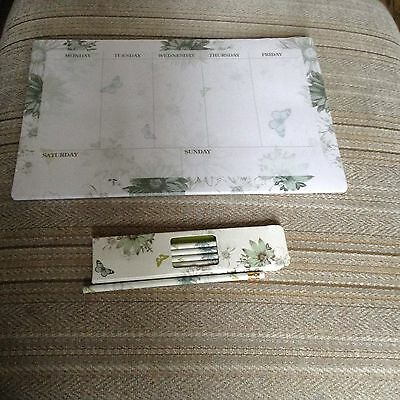 New Weekly Desk Pad 52 sheets Plus New Box Of Matching Pencils