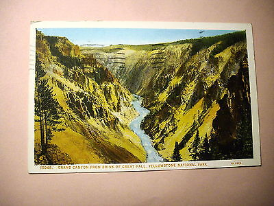 D438. Grand Canyon from Brink of Great Fall, Yellowstone National Park
