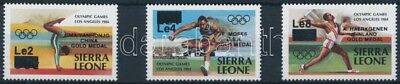 Sierra Leone stamp Summer Olympics, Los Angeles overprinted set MNH WS223483