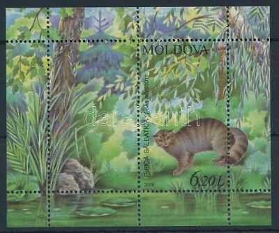 Moldavia stamp Animal - Cat block MNH 2006 Mi 36 Animals Cats WS234863