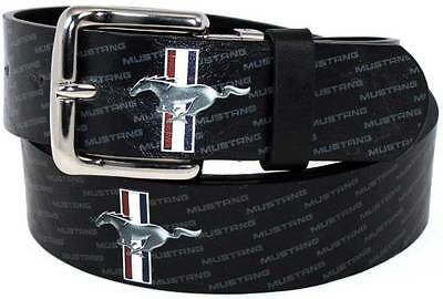 Ford Mustang Tribar Logo Leather effect Belt great gift! One Size Fits Most