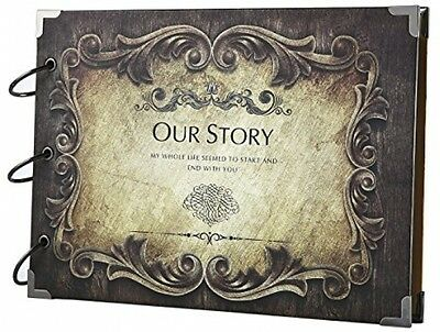 SiCoHome Scrapbook Album Our Story Gift Box Photo Storage Book Travel Record