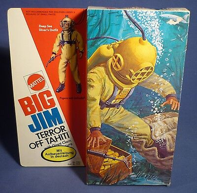 BIG JIM 7365 Action Set Terror of Tahiti Diver Taucher Outfit MIB MATTEL F173