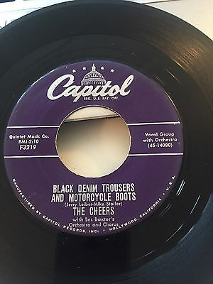 The Cheers - Black Denim Trousers And Motorcycle Boots - Orig Rock N Roll Usa 45