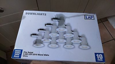 Lap Fixed Fire Rated Led Downlight Contractor Pack 240V 220Lm 10 Pack (8730F)