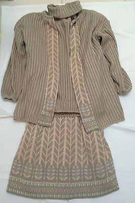 Bill Gibb Knitted 3 Piece Suit Size L