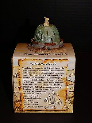 Boyds Bearly Built Villages ~ Town Fountain ~ #19818 ~ Box