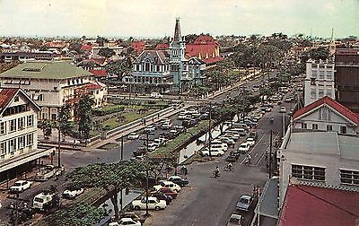 Georgetown Guyana aerial view from Bank of Guyana roof vintage pc (Z30783)