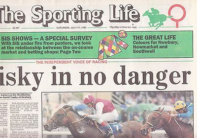 The Sporting Life Newspaper - Saturday July 17, 1993