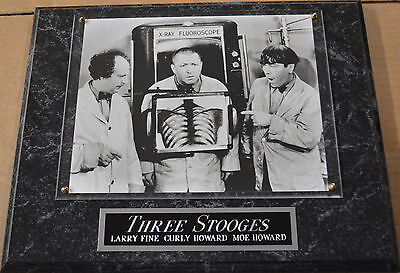 #1 Fan The Three Stooges Framed 8 X 10 Photo 12 X 15 Wall Plaque Display