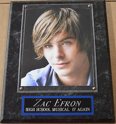 #1 Fan Zac Efron High School Musical Framed 8 X 10 Photo Wall Plaque Poster Sign