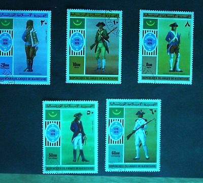 Mauritania 1976. Bicent. of American Independence. Set of 5. S.G.494-498. Used.