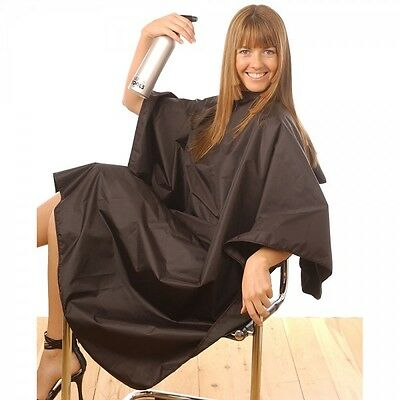 Tint Proof Hair Salon Hairdressing Cape Gown Black