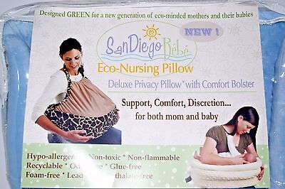Deluxe Nursing Pillow With Matching Privacy Cover Blue NEW Baby Comfort