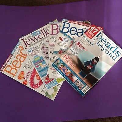 bead magazines x7 jewellery making magazines gift for jewellery maker UK seller