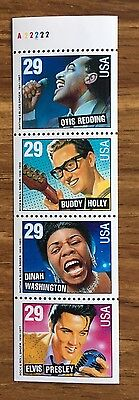 US SC # 2737b Rhythm And Blues & Rock and Roll Never Folded Pane Of 4. MNH