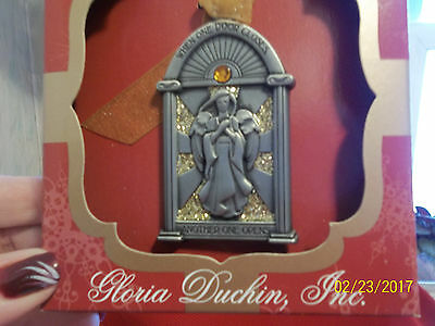 """Pewter ORNAMENT """"WHEN ONE DOOR CLOSES ANOTHER OPENS"""" GLORIA DUCHIN Encourgement"""