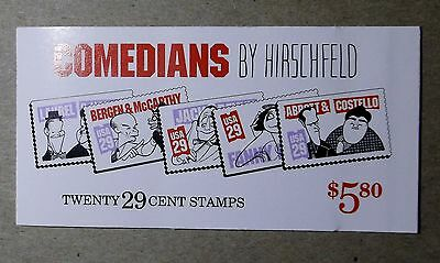 # 2562-66 BOOKLET of 20 Stamps 29c  COMEDIANS by HIRSCHFELD Book MINT