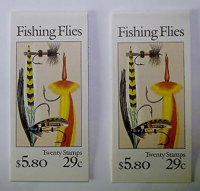 TWO # 2545-49 BOOKLET of 20 Stamps 29c FISHING FLIES Book MINT