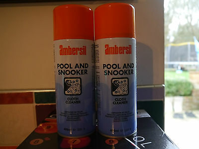 Ambersil Pool And Snooker Table Cloth Cleaner 2 Cans - Genuine £6.50 Per Can!!!