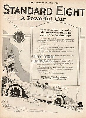 1919 Standard Steel Car Company Pittsburg PA Vintage Eight Auto/Automobile Ad
