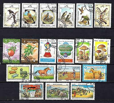 Afganistan nice used sets ,stamps as per scan(2399)