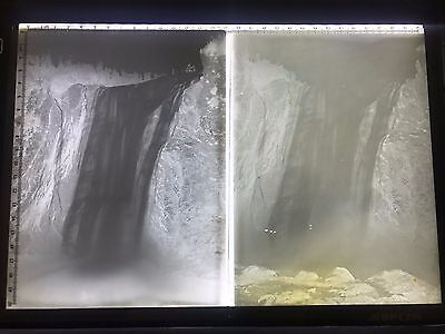 Lot Glass Negatives Antique Photo St. Lawrence Quebec Canada Montmorency Falls