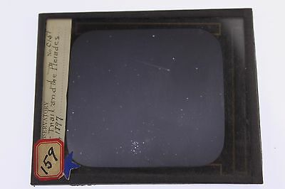 1890's Astronomy Yerkes Observatory Meteor Trail in Pleiades Magic Lantern Photo