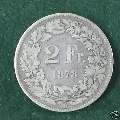 SWITZERLAND - 1878 - 2 Francs.