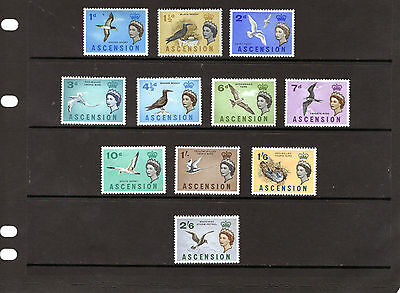 ASCENSION 1963 BIRDS , values to 2/6d , mainly MINT