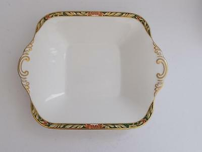 "Spode ""Tamarind"" Fine English Bone China Twin Handle Gilded Shallow Dish."