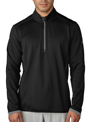 Adidas Climaheat 1/2 Zip Jacket - Black/Vista Grey