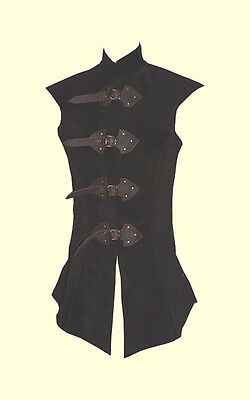 NEW Long Doublet made of leather THIS IS HANDMADE SIZE LARGE