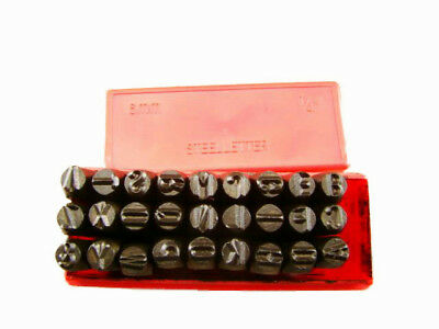 """1/4""""  6MM Letter Punch Stamp Set  Metal-Steel-Hand A-Z -Part Codes-Names"""