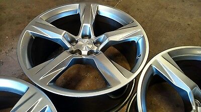 """2016 Chevy Camaro 20"""" alloy wheels rims hypersilver staggered 5x4.75 5x120"""
