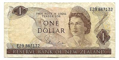 One dollar New Zealand banknote, ND(1989),1$ QEII note, low price