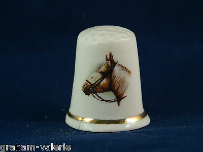 Collectable Thimble Horse Bone China