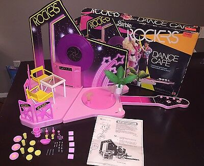 Vtg Barbie and The Rockers Dance Cafe Playset 1986 Box Stage Mattel