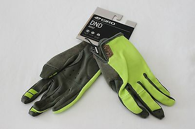 New Men's Giro DND Gloves Full Finger Cycling MTB Green Mountain Bike Small S