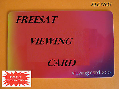 Activated 2016 Red Freesat Viewing Card Plus & Hd * Free Post*