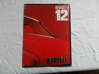 1970'S  Renault 12 DUTCH Market Sales Brochure RARE COLLECTORS WRITTEN IN DUTCH