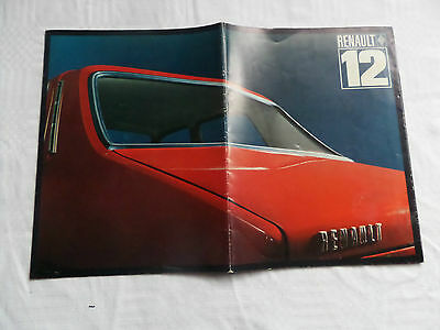 1970/71  Renault 12  SEDAN  AUSTRALIAN Market Sales Brochure RARE COLLECTORS